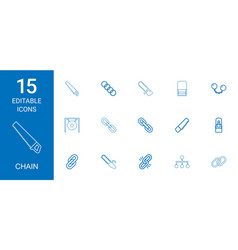 Chain icons vector