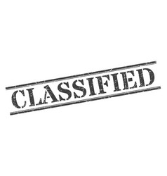 Classified stamp classified square grunge sign vector