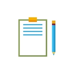 Clipboard with a Pencil Isolated on White vector