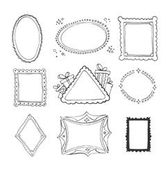 Collection decorative loop frames vector