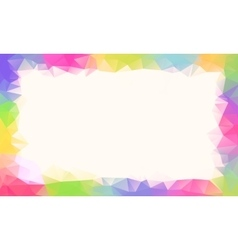 colorful rainbow polygon background or vector image