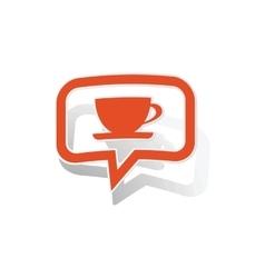 Cup message sticker orange vector