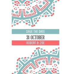 Design Awesome Wedding Invitation Template with vector image