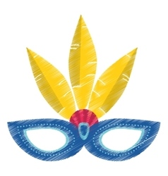 Drawing brazil carnival mask vector
