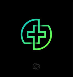 Drugstore pharmacy medicine cross icon logo vector