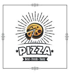 emblem of pizza vector image