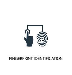 Fingerprint identification icon simple element vector