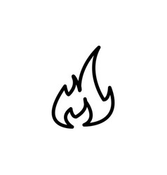 fire flame sign icon black vector image
