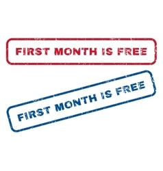 First Month Is Free Rubber Stamps vector