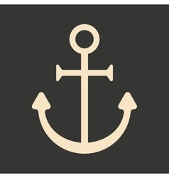 Flat in black and white mobile application anchor vector
