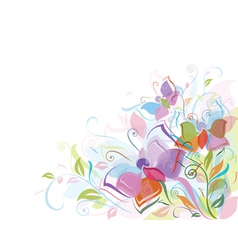 floral background butterfly vector image