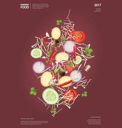 flying ingredient food vector image