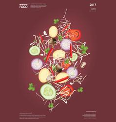 Flying ingredient food vector