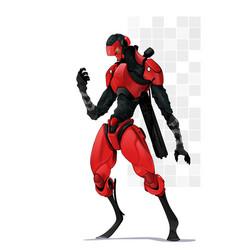 Four great giant battle robots mecha game vector
