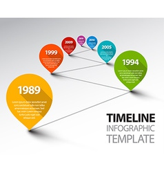 Fresh Infographic Timeline Template with pointers vector