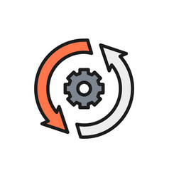 Gear wheel with two arrow process system update vector