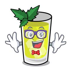 Geek mint julep character cartoon vector