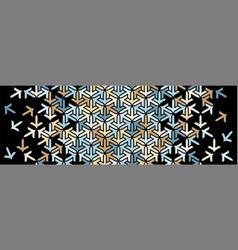 Geometric border islamic pattern colorful vector