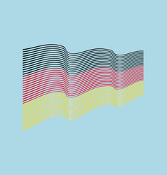 german flag on blue background wave stripe vector image