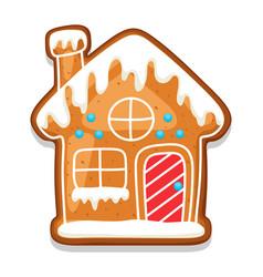 Gingerbread cookies house merry vector