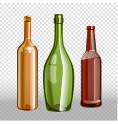 glass bottles or glassware icons vector image