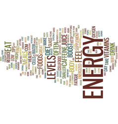 Great tips to increase energy levels text vector
