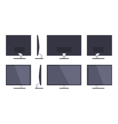 HD Monitor vector image