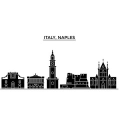 Italy naples city architecture city vector