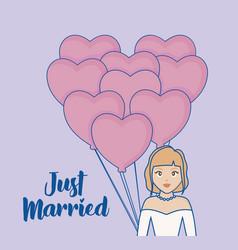 Just married design vector