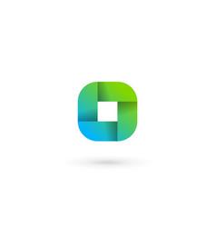 letter o ribbon logo icon design template elements vector image
