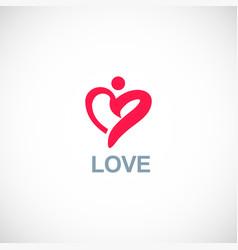 love man logo vector image