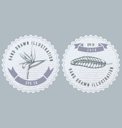Monochrome labels design with of vector