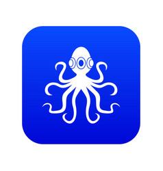 octopus icon digital blue vector image