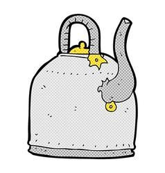 old iron kettle comic cartoon vector image