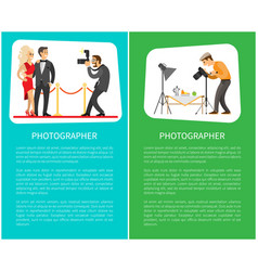 Paparazzi and still life photographer web banners vector