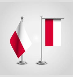 Poland country flag on pole vector