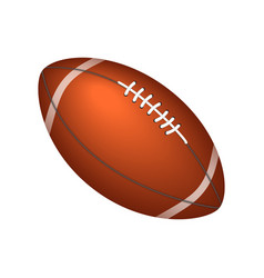 rugby or american football ball vector image