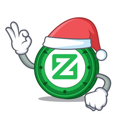 Santa zcoin mascot cartoon style vector