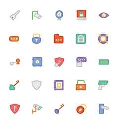 Security Colored Icons 6 vector image