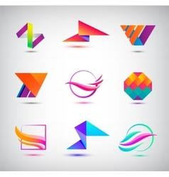 set of abstract logos icons minimal vector image vector image