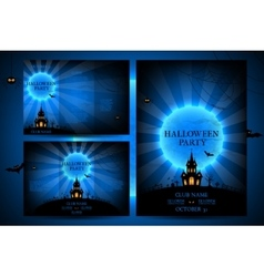 Set of flyers for halloween vector image