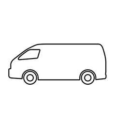 set of silhouettes of cars vector image