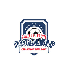 Soccer college team football ball icon vector