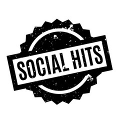 Social hits rubber stamp vector