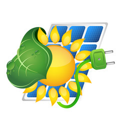 solar panels power source vector image