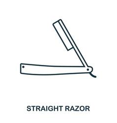 straight razor icon flat style icon design ui vector image