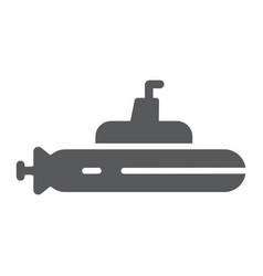 submarine glyph icon ocean and navy boat sign vector image