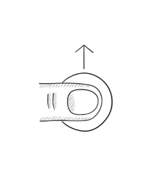 Touch screen gesture sketch icon vector image