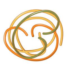 tricolore spaghetti icon cartoon style vector image