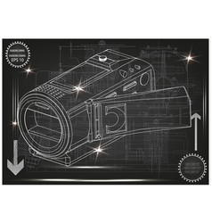 camera on gray vector image